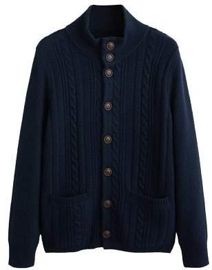 MANGO Buttoned knit braided cardigan