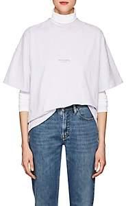 Acne Studios Women's Stella Logo Cotton T-Shirt-Chalk Lilac