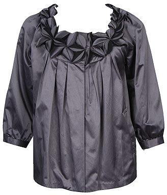 Pleated Satin Jacket