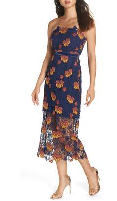 Foxiedox Dolores Strapless Tea Length Dress