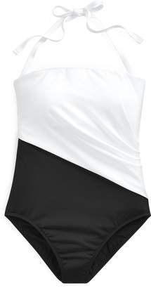 Ralph Lauren Bandeau One-Piece Swimsuit