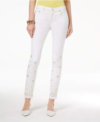 Michael Kors MICHAEL Embellished Skinny Jeans, Regular & Petite