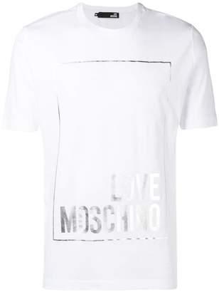 Love Moschino metallic logo print T-shirt