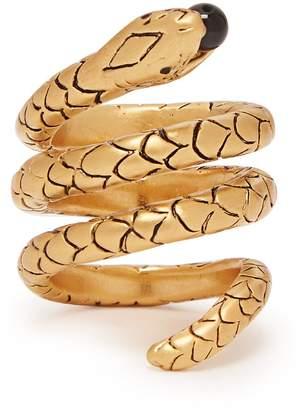 Saint Laurent Serpent wrap ring