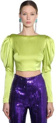 16Arlington Silk Satin Crop Top