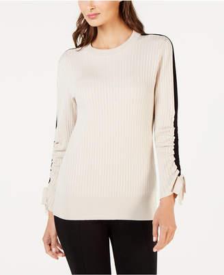 Alfani Ribbed Striped Sweater