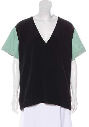 CNC Costume National Colorblock Short Sleeve Top