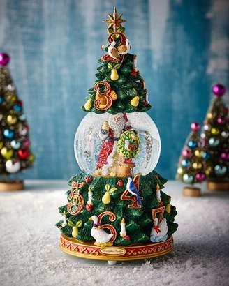 christopher radko 12 days of christmas snow globe - Large Christmas Snow Globes