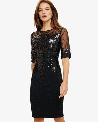 Phase Eight Orlena Oval Sequin Knitted Dress