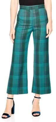 Sandro Otis Plaid Crop Pants