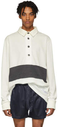 Daniel W. Fletcher White Panelled Rugby Shirt