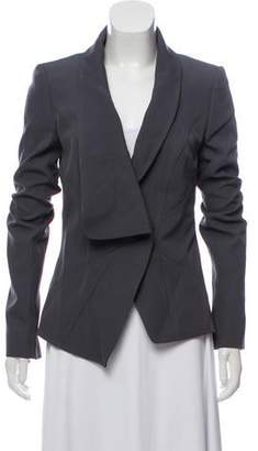 Andrew Gn Virgin Wool Asymmetrical Blazer