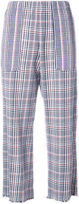 Raquel Allegra tartan cropped trousers