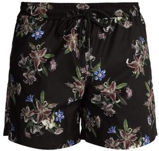 Commas - Floral Print Swim Shorts - Mens - Black Multi