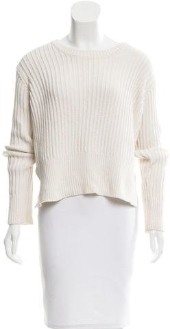 T by Alexander Wang Cropped Rib Knit Sweater