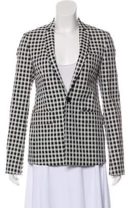 Each X Other Checkered One-Button Blazer Black Checkered One-Button Blazer