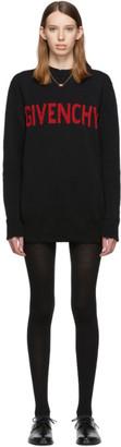 Givenchy Black and Red Logo Crewneck Dress
