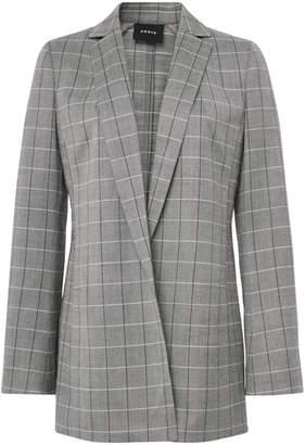 Akris Alan Cool Wool Plaid Jacket