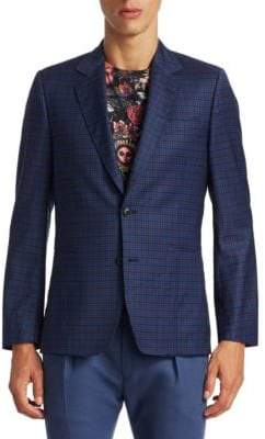 Paul Smith Small Plaid Slim-Fit Wool Jacket