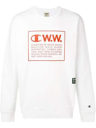 Wood Wood Champion X logo print sweatshirt
