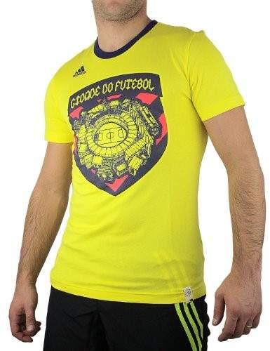 Adidas Brazil City Graphic Tee - Lemon Peel (Mens) - Large