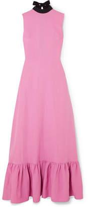REJINA PYO - Ella Backless Woven Maxi Dress - Pink