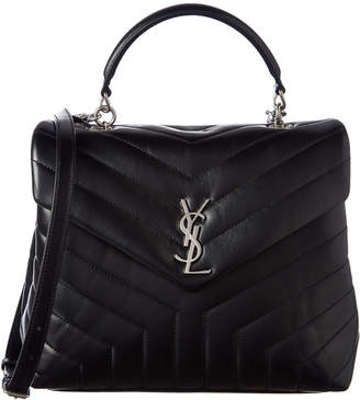 Saint Laurent Loulou Matalase Y Leather Satchel