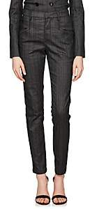 Isabel Marant Women's Karen Pinstriped Denim Trousers - Black