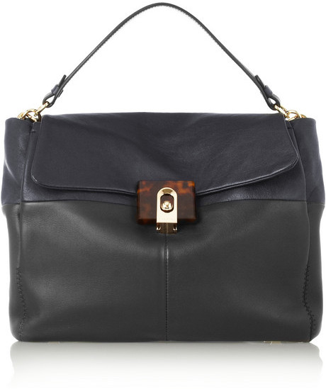 Lanvin For Me two-tone leather satchel