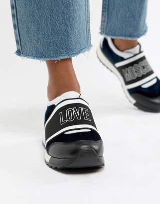 Love Moschino Velvet Logo Sneaker