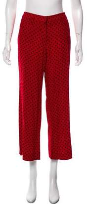 Miu Miu Polka Dot Mid-Rise Pants