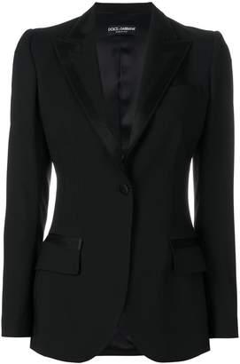 Dolce & Gabbana satin trim lapel blazer