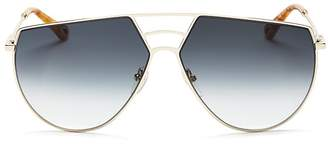Chloé Ricky Triple Bridge Gradient Aviator Sunglasses, 62mm