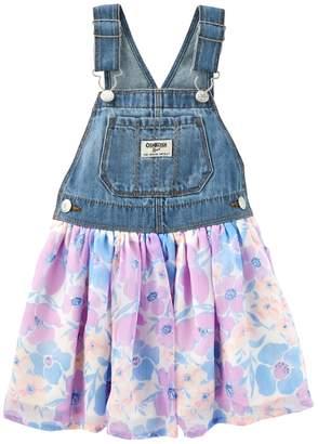 Osh Kosh Oshkosh Bgosh Baby Girl Floral Denim Jumper