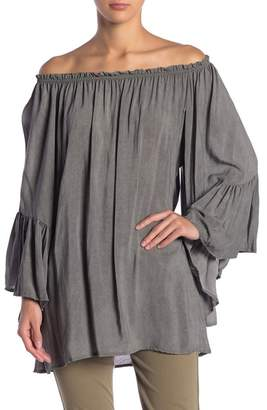 Elan International Off-the-Shoulder Bell Sleeve Tunic