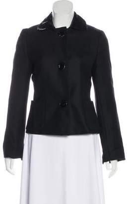 Akris Punto Wool Button-Up Jacket