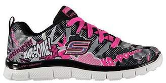 Skechers Appeal Pop Pizazz Childs Trainers Runners Lace Up Memory Foam