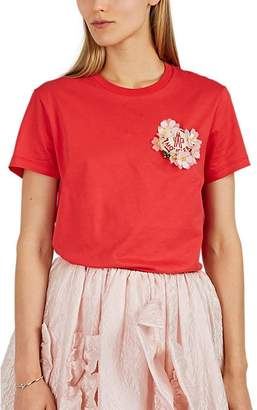 Simone Rocha 4 MONCLER Women's Embellished Cotton Jersey T-Shirt