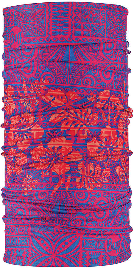 Blue & Red Floral UV Multifunctional Headwear