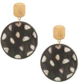 Nest 24K Goldplated Spotted Horn Disc Earrings