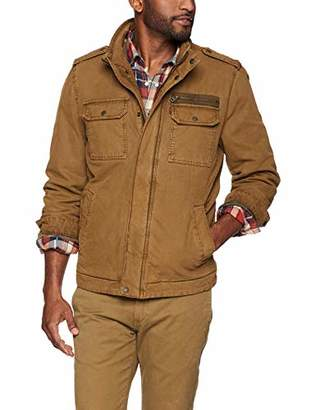 Levi's Men's Washed Cotton Two Pocket Sherpa Lined Military Jacket