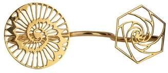 Eina Ahluwalia Sacred Geometry Three Finger Ring