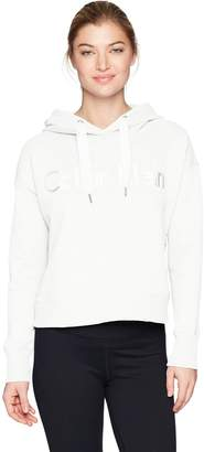 Calvin Klein Women's Long Sleeve Cropped Boxy Pullover Hoodie