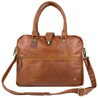 Mahi Leather Leather Cornell Satchel Briefcase In Vintage Brown