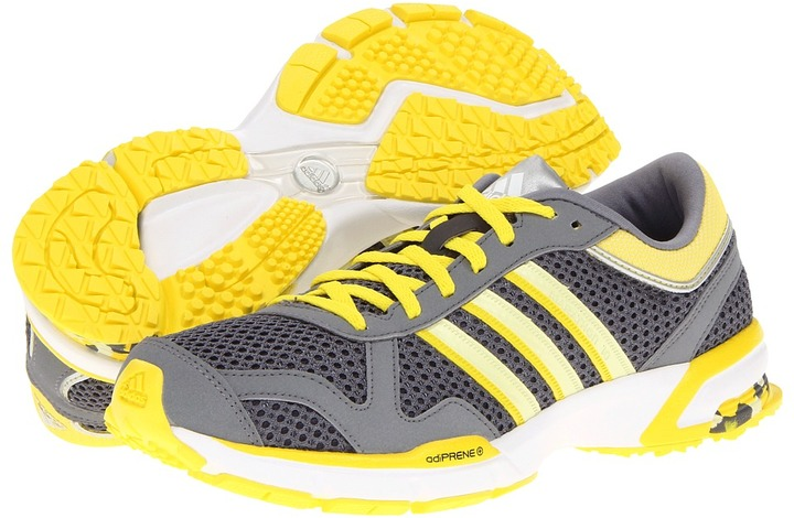 adidas Marathon 10 W - USA (Sharp Grey/Haze Yellow/Vivid Yellow) - Footwear