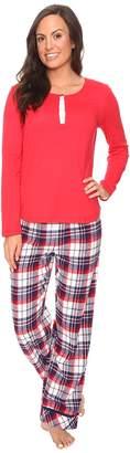 Jockey PJ Set with Flannel Plaid Pants Women's Pajama Sets