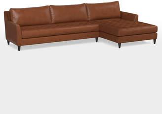 Rejuvenation Hastings Chaise Sectional Leather Sofa
