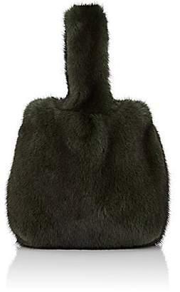 Barneys New York Women's Mink Fur Wristlet Bucket Bag - Dk. Green