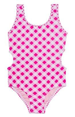 b9f86e7f431fe Hula Star Crossing Check One-Piece Swimsuit