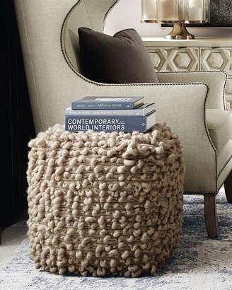 Bernhardt Kai Hand-Loomed Wool Ottoman